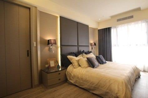 臥室色彩層次感和諧,身心靈放鬆