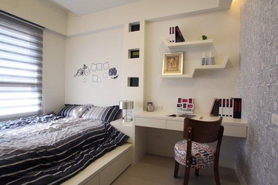 善用隱藏式收納空間,打造乾淨而舒服的次臥房