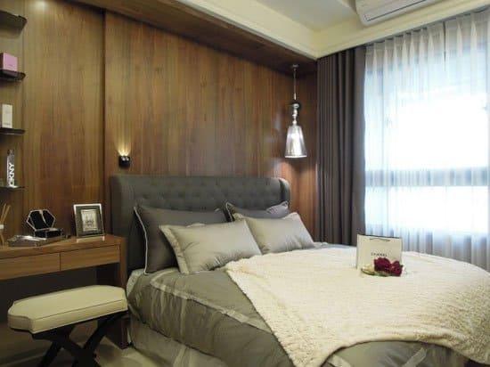生活起居相當方便的主臥室,空間百分百充分利用。