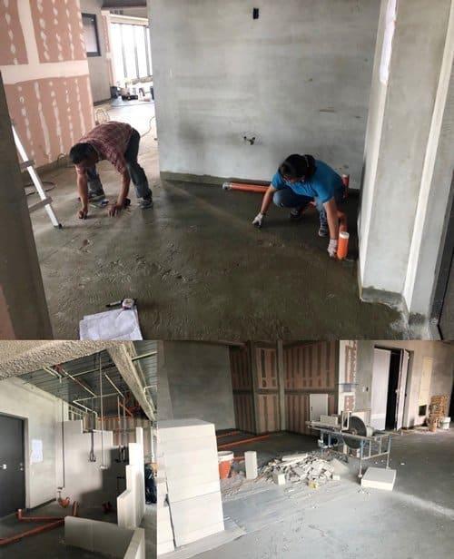 毛胚屋的基礎工程,須考慮到管線位置、隔間牆與防水層…等重點。