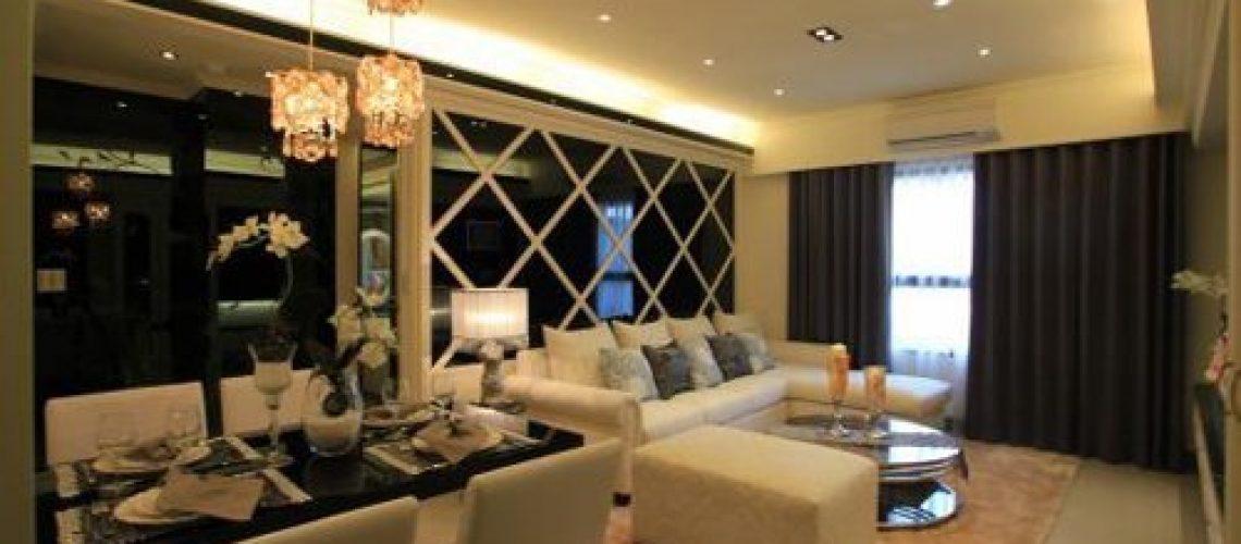 ※ 整體空間以白色為基調,搭配對比色黑鏡創造出低調奢華。