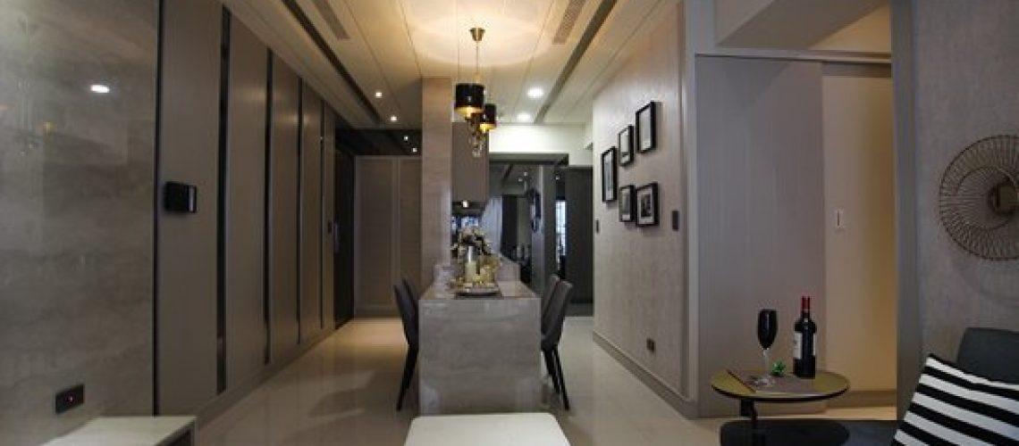 采顥室內設計打造18坪輕奢華時尚美宅