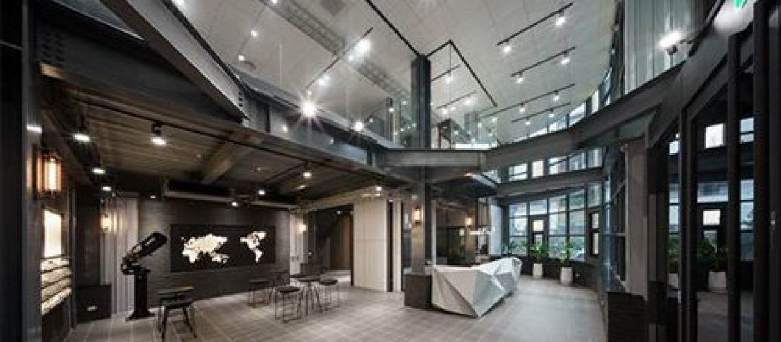 接待大廳流暢的動線,讓整體空間感更加明亮通透。